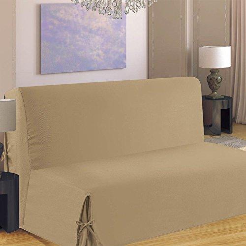 Homemaison HM69F516-80 Housse de Canapé pour BZ Polyester Beige 190 x 140 cm