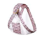 Baby Sling Wickeltrage, All-in-1 Stretchy Ergonomische Sling Babytrage Stillhülle mit stabilen Ringen tragen (Mesh Pink-A, One Size)