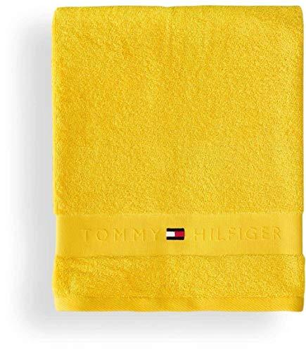 Tommy Hilfiger Handtuch Plain Farbe Yellow Größe 50x100cm