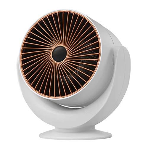 Calentador de ventilador eléctrico vertical Calentador de espacio silencioso Calentador de circulación con 3 palas de hélice para habitaciones pequeñas, calentamiento rápido de 800 W, color blanco