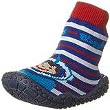 Playshoes Unisex-Kinder Aqua Socken, Badesocken Taucher Dusch- & Badeschuhe, Rot/Blau/weiß, 20/21 EU