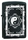 Zippo Yin Yang Mechero, Metal, Ebony, 3.5x1x5.5 cm