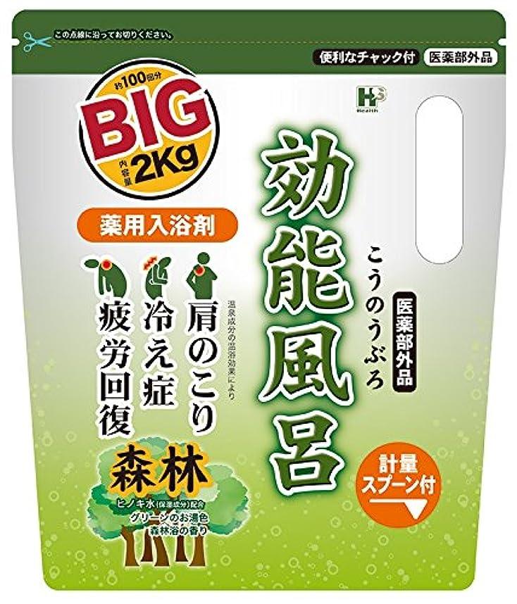 練習神話カメラ薬用入浴剤 効能風呂 森林の香り BIGサイズ 2kg [医薬部外品]