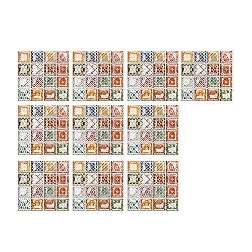 Delisouls Adhesivo para azulejos de mosaico, adhesivo 3D, autoadhesivo, para decoración de manualidades, cocina, baño