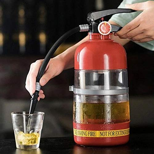2L Whiskey Decanter - Fire Extinguisher Container Originality Beer Dispenser Party Beer Water Barrels Bar Beverage Liquor Rack Machine for Wine, Spirits, Beer, Liquor and Drinks