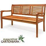 Deuba Gartenbank Bologna 3-Sitzer Eukalyptusholz Sitzbank Holzbank - 4