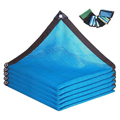 GWZSX Pantalla de privacidad de balcón Azul Revestimiento de balcón Transpirable Protección UV Terraza de jardín Pantalla de Sombra Revestimiento de balcón-3 * 8m/10 * 24ft