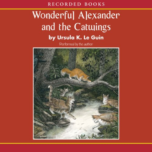 Wonderful Alexander and the Catwings audiobook cover art