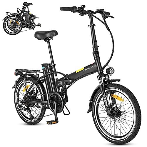 F-wheel Klappbares E-Bike - 20 Zoll elektrofahrräder mit 36V/10Ah Lithium-Akku Und 25KM/H 250W Motor, Tragbares E-Bike Citybike mit Shimano 7-Gang Schalthebe & LCD Display, Faltrad für Erwachsene