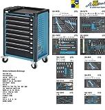 Hazet 179-8-2700-163/296 Werkstattwagen Assistent mit Sortiment, Anzahl Werkzeuge: 296, 1040 x 817 x 502 mm, Mehrfarbig