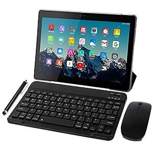 Tablet 10 Pulgadas 4G LTE - TOSCIDO Octa Core Tableta Android 10.0,4GB / RAM,64 GB / ROM,Dual Sim,WiFi ,Teclado Wireless   Ratón   Cubierta para Tablet M863 y Más Incluidos - Gris