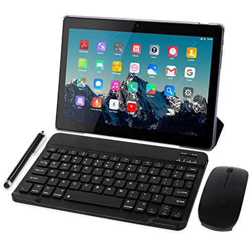 Tablet 10 Pulgadas 4G LTE - TOSCIDO Octa Core Tableta Android 10.0,4GB / RAM,64 GB / ROM,Dual Sim,WiFi ,Teclado Wireless...