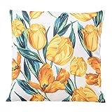 habeig Sitzkissen WASSERDICHT Kissen Outdoor Wetterfest 45x45 cm Zierkissen Gartenstuhl Auflagen (Blumen #537)