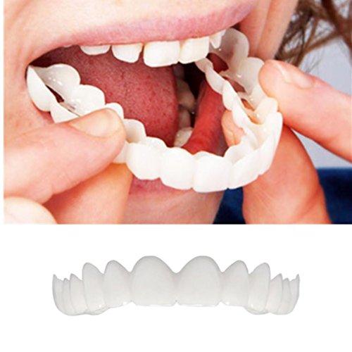 XXYsm Zahnersatz Dental Provisorischer Zahnprothese Veneer für Oberkiefer Kosmetische Zähne Sofortiges Lächeln Zähne Whitening Prothese Perfekte Smile Veneers Komfort Zähne Kosmetikfurnier