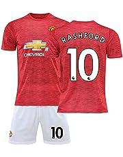 MCE Män fotboll sport jersey set Team Manchester United Football Team # 10 Marcus Rashford fan fotboll jersey set