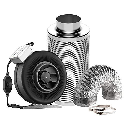 VIVOSUN 6 Inch 440 CFM Inline Fan with ...
