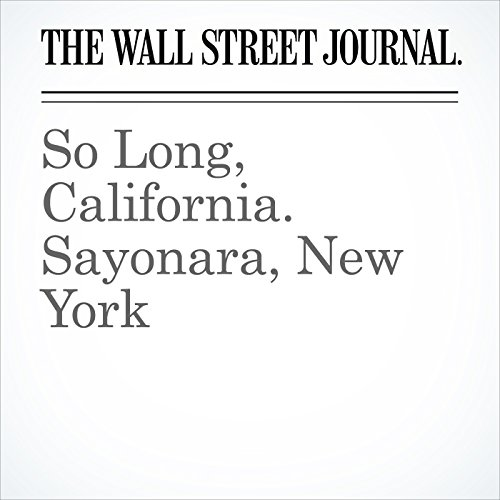 So Long, California. Sayonara, New York audiobook cover art