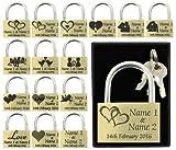 Candado personalizable de 40 mm para aniversario, regalo de San Valentín, boda, regalo