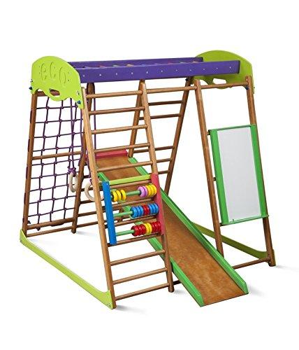 Kindersport Ecke ˝Karamelcek-Plus˝ Ringe, Kletterstange , Kinderrutsche , Kletternetz , Sprossenwand