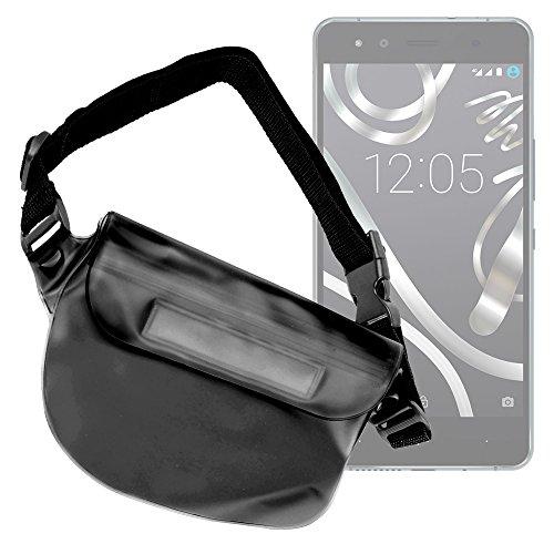 DURAGADGET Riñonera Sumergible para Smartphone BQ Aquaris X5 Plus / E4 / E4.5 / E5s / E5 FHD