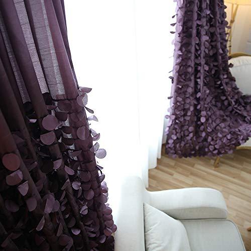 ZHUOZI Koreanisch fertig Vorhänge romantischen und schönen warmen Schlafzimmer Wohnzimmer Balkon