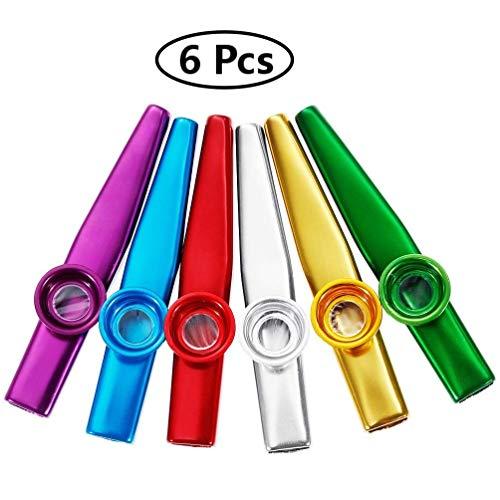 Voarge 6 Stück Metall Kazoo Musikinstrumente Ein guter Begleiter für Gitarre, Ukulele, Violine, Klaviertastatur, tolles Geschenk für Kinder Musikliebhaber