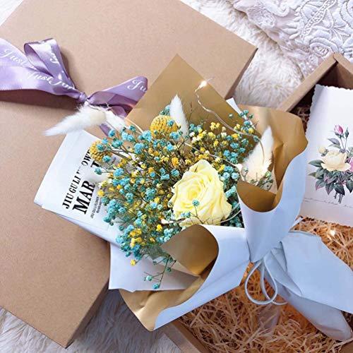 Fiori artificiali, fiori finti, sposa stellata, giardino di famiglia, banchetto, decorazione di nozze, bouquet di nozze per scrivania, soggiorno, caffetteria, matrimonio, madre, persona amata