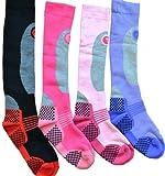 i-Smalls Calcetines térmicos de manguera larga para mujer Reino Unido 4-7 Surtido (4 pares)