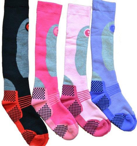 i-Smalls 6er Pack Hohere Leistung Damen Ski Socken Lange Struempfe Thermo Socken
