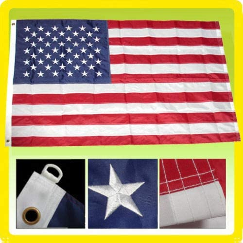 8'x12' FT American Flag USA US Embroidered Sta Quantity limited All stores are sold Stripes Sewn U.S.