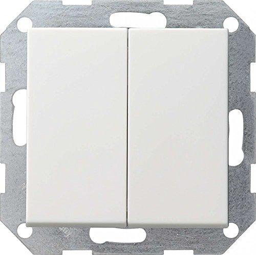 Gira 012827 System 55 - Enchufe Doble, Color Blanco