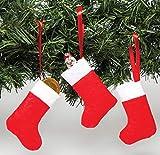 Baker Ross Mini Calze Natalizie (confezione da 8) perfette per artigianato e attività natalizie e decorazioni, ideali per la scuola, la casa, gruppi e altri
