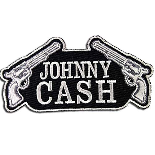Johnny Cash Patch Band Embroidered Iron On Patches