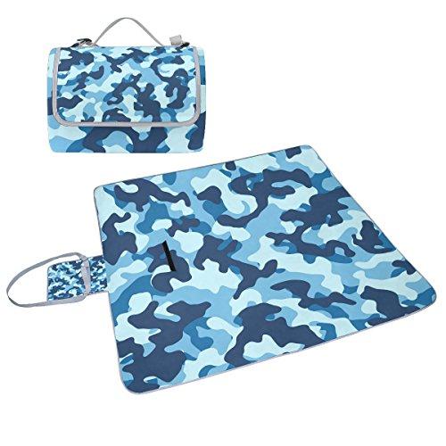 COOSUN Camouflage-Muster, Picknick-Decke, handlich, schimmelresistent, wasserdicht, für Picknicks, Strand, Wandern, Reisen, rving kurze