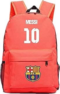 Barcelona Fans Backpack - Lionel Messi #10 Barcelona Rucksack for Back to School Noctilcent Bag