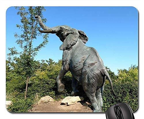Mouse Pad - Elephant Statue Zoo Sculpture Animal