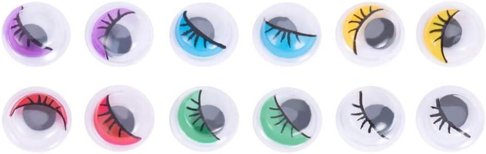 Calvas 1 Box Popular product Plastic Wiggle Buttons Max 83% OFF Scrapbooking Cra Eyes Googly