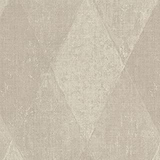 Norwall NW35324 Lawrence Diamonds Textured Wallpaper, Taupe, Multi-Color