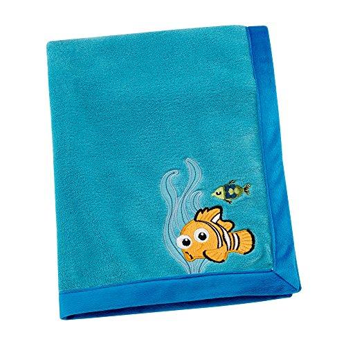 Disney Finding Nemo Appliqued Coral Fleece Blanket, Blue