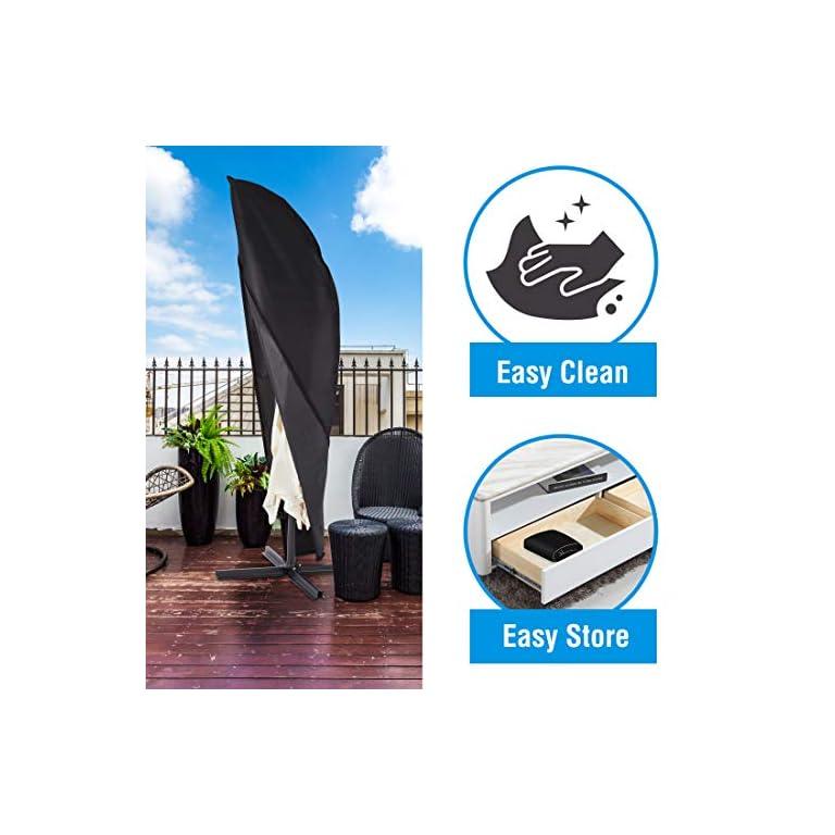 Ultranatura-Schutzhuelle-fuer-Ampelschirm-passend-fuer-2m-3m-35m-Durchmesser-Sonnenschirm-Huelle-UV-Schutz-durchgaengiger-Reissverschluss-und-Boden-Kordelzug-aus-Oxford-600D-wetterfest