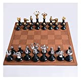 Juego de ajedrez ajedrez Conjunto de ajedrez, ajedrez de ajedrez de Jade Hetian, ajedrez, ajedrez con Certificado, colección Creativa Regalo de Regalo de Regalo (Size : 44x44cm)