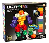 Light Stax Junior Classic Illuminated Blocks - Led Light Up Building Blocks - 36 Piece Set