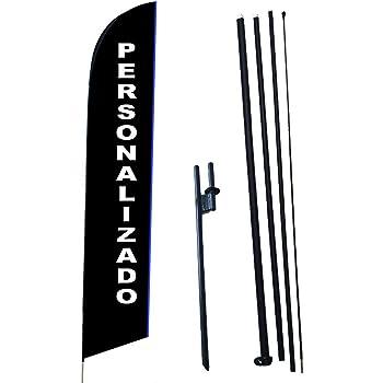 BANDERA PUBLICITARIA TIPO PLUMA DISEÑO PERSONALIZADO 4.2MTS Mastil y spike, Feather Flags, Bandera tipo Pluma, Flag Banner