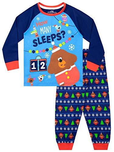 Hey Duggee Pijamas de Manga Larga para niños Navidad Christmas Azul 6-7 Años