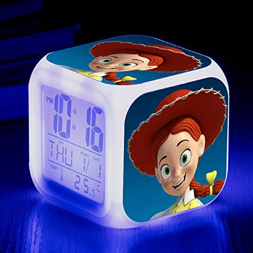 Alarm Clock-Led Colorful Color Square Clock Creative Small Alarm Clock 39#8 * 8 * 8Cm