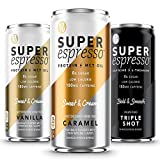 Kitu Super Espresso, Iced Keto Coffee Cans (0g Added Sugar, 5g Protein, 35 Calories) [Variety Pack] 6 Fl Oz, 12 Pack | Iced Coffee, Canned Coffee - From the Super Coffee Family