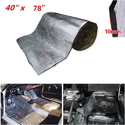 SHINEHOME 394mil 21.53sqft Heat Shield Sound Deadener Noise Thermal Insulation Dampening Sound Deadening Mat Audio Noise Insulation Material 78x 40 Inches