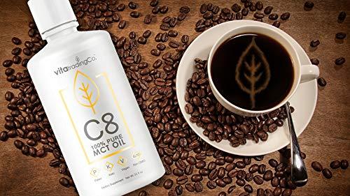 VitaTradingCo C8 100% Pure MCT Oil 128oz | Keto, Paleo & Vegan Diet Friendly | Clean Energy | Healthy Fat | BPA-Free | Sustainably Sourced | 3X Distilled | Non-GMO & Gluten-Free | 256 Serving 5