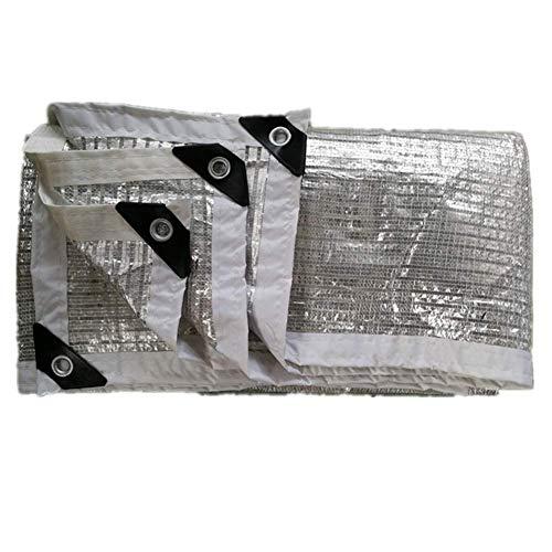 WYJW Sunblock schaduw net doek schaduw, UV-bestendig zilver met ogen voor Patio/Pergola/Canopy - Aluminium folie + HDPE (Maat: 1X3M) 2x2M