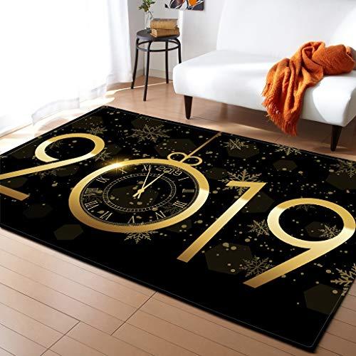 Alfombra Salón Alfombra de patrón de sala de estar de estilo creativo europeo 2019 Año Nuevo sala de estar Alfombra grande Alfombra antideslizante de la cabecera de la cama (Disponible en 3 tamaños) A